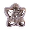 Glass Bead Flower 12x14mm Steel Metal Effect - Strung